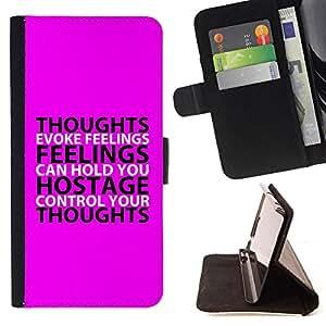 BullDog Case - FOR/Samsung Galaxy S5 V SM-G900 / - / FEELINGS /- Monedero de cuero de la PU Llevar cubierta de la caja con el ID Credit Card Slots Flip funda de cuer