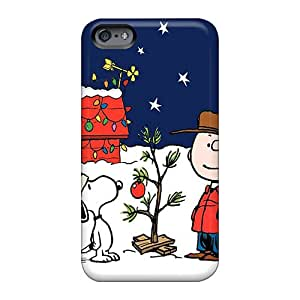 ZabrinaMcVeigh Apple Iphone 6 Anti-Scratch Cell-phone Hard Cover Custom Attractive Peanuts Charlie Brown Christmas Pictures [ZHA245ZQKS]