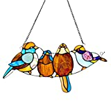 8'' H Stained Glass Song Bird Window Panel
