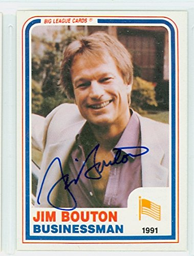 ec78f3a7067 Image Unavailable. Image not available for. Color  Jim Bouton AUTOGRAPH  1980s Big League Cards New York Yankees