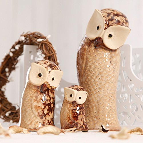 Pastoral cute animal ceramic desktop ornaments home living room porch window display ZCL12061733 by Supper PP