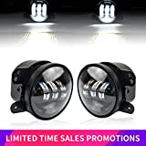 Liteway Pair 4 Inch 30w Cree Led Fog Lights Projector Driving Light DRL for 07-16 Jeep Wrangler JK Led Offroad Fog Lamp Front Bumper Lights, 2 Years Warranty