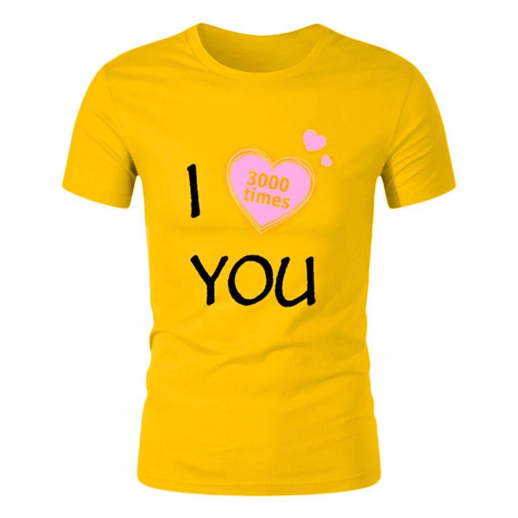 MOTOCO Hombre Camiseta de Manga Corta Top I Love You 3000 Times ...