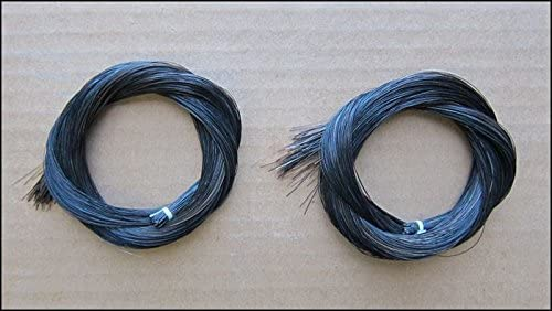 1 madeja de crin de caballo de Mongolia de 78,5-80 cm para violín, viola, violonchelo, contrabajo