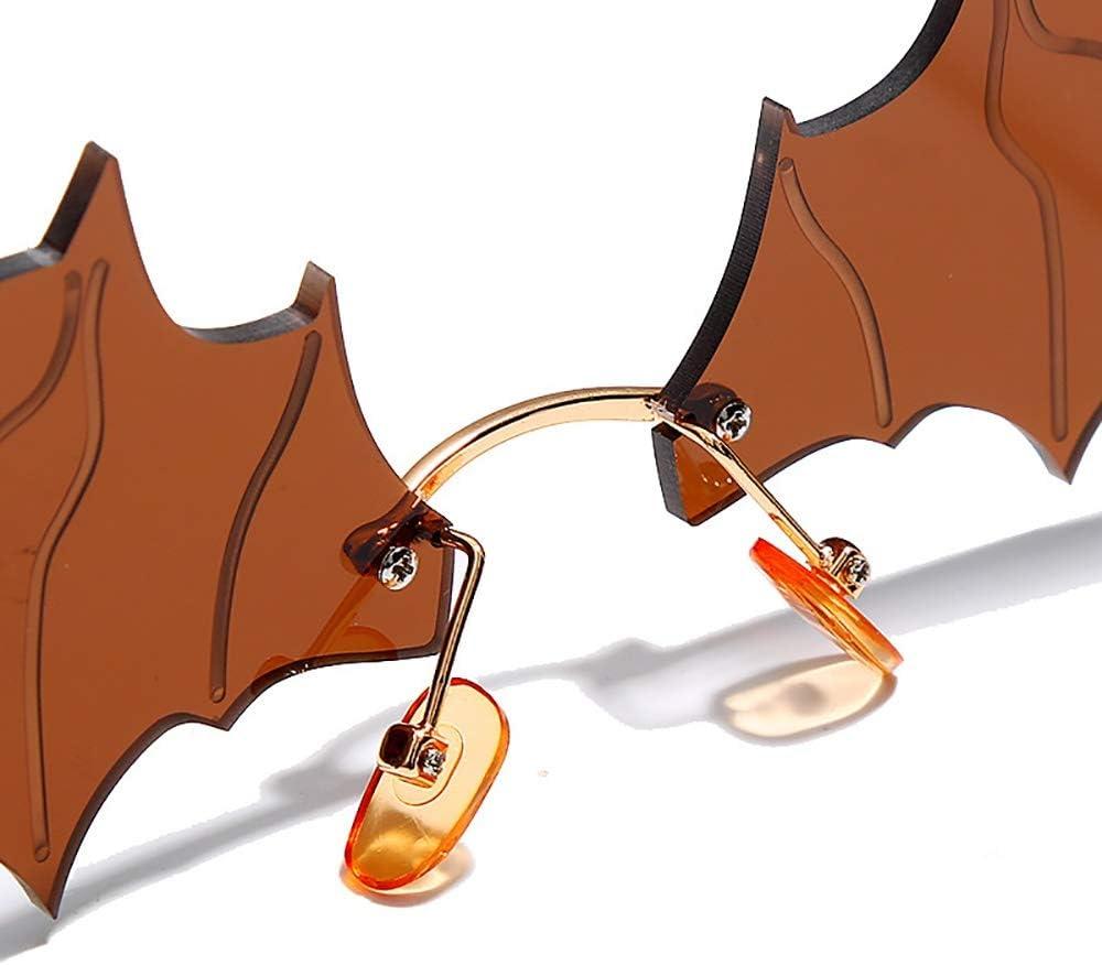 TOT BRQ A Forma di Mazza da Bicchieri Personalizzati Hip-Hop d'avanguardia degli Occhiali da Sole Colorati for Le Donne, Larghezza dell'obiettivo 82 Millimetri Nero