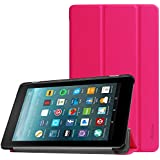ProCase All-New Fire 7 Case 2017, Slim Stand Hard Shell Case Smart Cover for All-New Fire 7 Tablet(2017 release) -Magenta