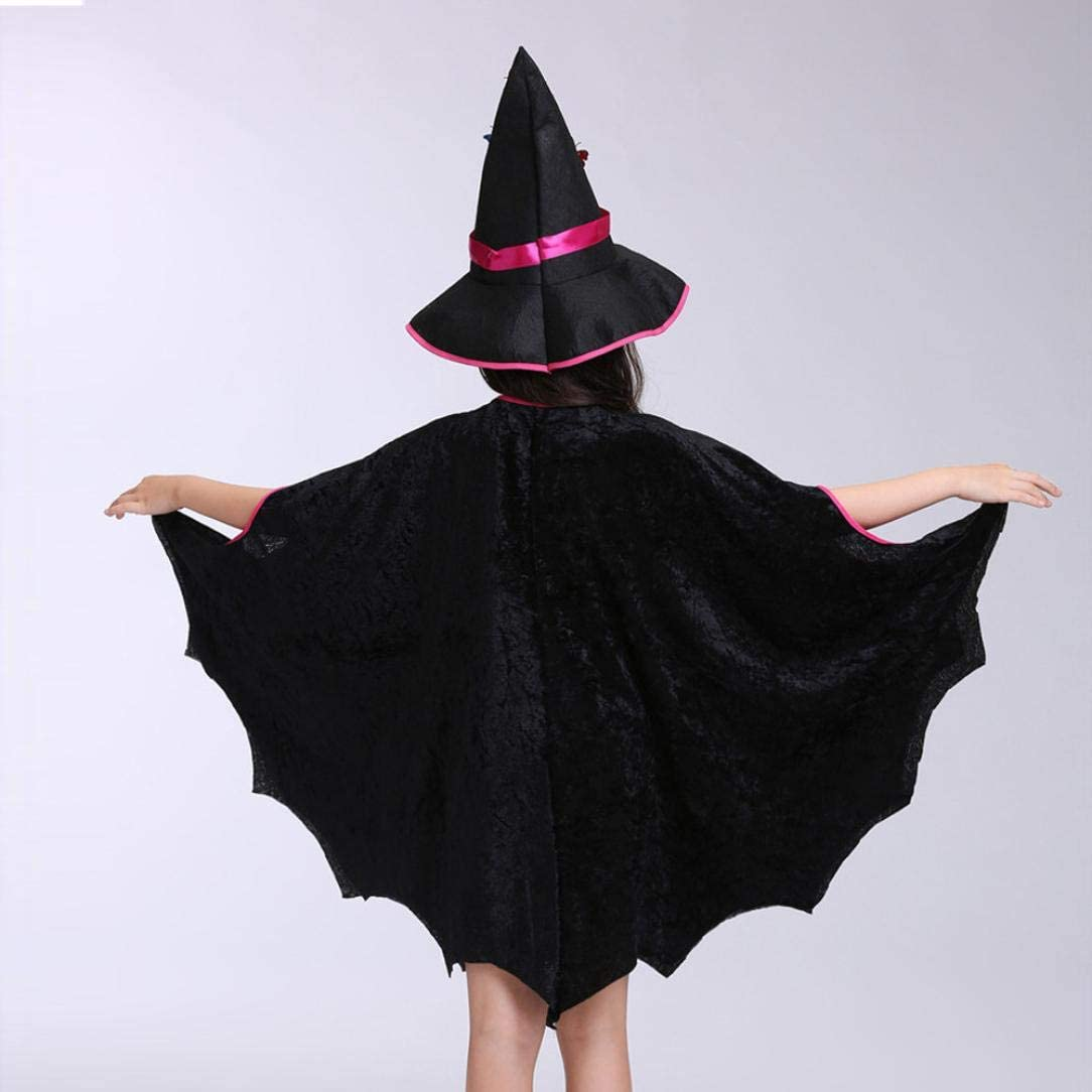Cappello Outfit Kinlene-bambino Neonate Costume di Halloween Vestito da Partito Mantello Borsa Zucca