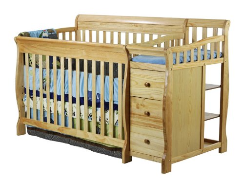 Dream On Me 5 in 1 Brody Convertible Crib with Changer, Natural by Dream On Me (Image #2)