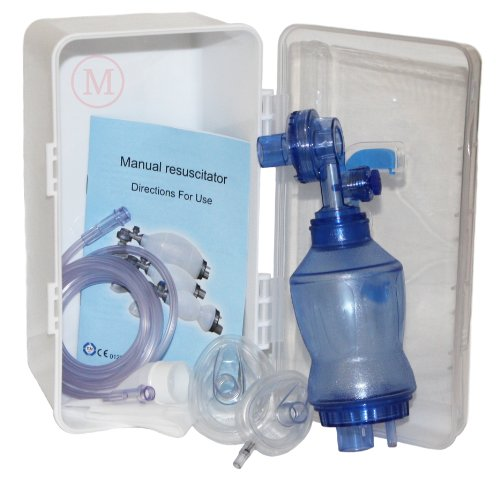 MCR Medical Supply BVM-3021-001 PVC (Polyvinyl Chloride) Infant Training Bag Valve Mask (BVM) in Plastic Carry Case