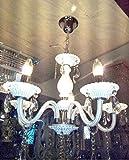 S M Arcade White Italian 6 Light chandelier (SM-35-52/6L)