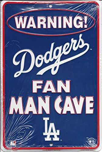 Rico Industries Los Angeles Dodgers Man Cave Metal Parking Sign