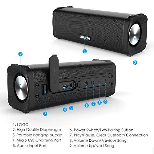 musik box tws lx7 bluetooth lautsprecher mit aux kabel wasserdicht schwarz ebay. Black Bedroom Furniture Sets. Home Design Ideas