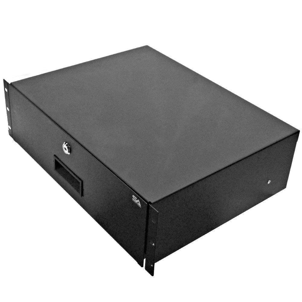 Seismic Audio - SA-RD3-3 Space PA/DJ Metal 19'' Rack Case Locking Drawer - 3U Server Cabinet Drawer with Keys