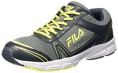 Fila Men's Wayne Navy/Grey/Lime Running Shoes - 8 UK/India (42...