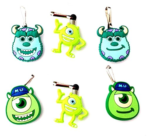 [AVIRGO 6 pcs Zipper Pull Charms for Jacket Backpack Bag Pendant Set # 78-2 by Hermes] (Oozma Kappa Costume)