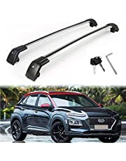 MotorFansClub Crossbars fit for Compatible with Hyundai KONA 2018 2019 Lockable Baggage Luggage Racks Roof Racks Rail Cross Bar (2 PCS)