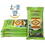 Trailblazer Biodegradable Wet Wipes for No Rinse Bathing and Showers. Great for Camping, Travel, Body Cleansing, Personal Hygiene and Cleaning. Vitamin E and Aloe Enriche (4 Packs)
