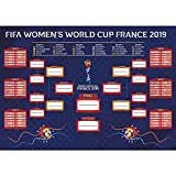 LittleLoverly 2019 France Women's World Cup Wall Chart Poster 16 x 24 inches World Soccer Matches/Football Tournament Schedule/Soccer Calendar Bar/Party Decorations