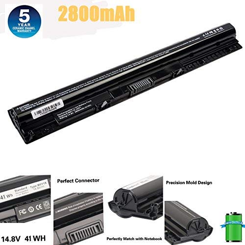 M5Y1k Laptop Battery 14.8V 41WH Compatible with DELL Inspiron 3451 3551 5558 5758 M5Y1K Vostro 3458 3558 Inspiron 14 15 3000 Series 1KFH3 WKRJ2 GXVJ3 HD4J0 Laptop Battery