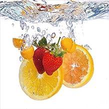 "Cortesi Home Fruit Splash I Tempered Glass Wall Art, 12"" x 12"""