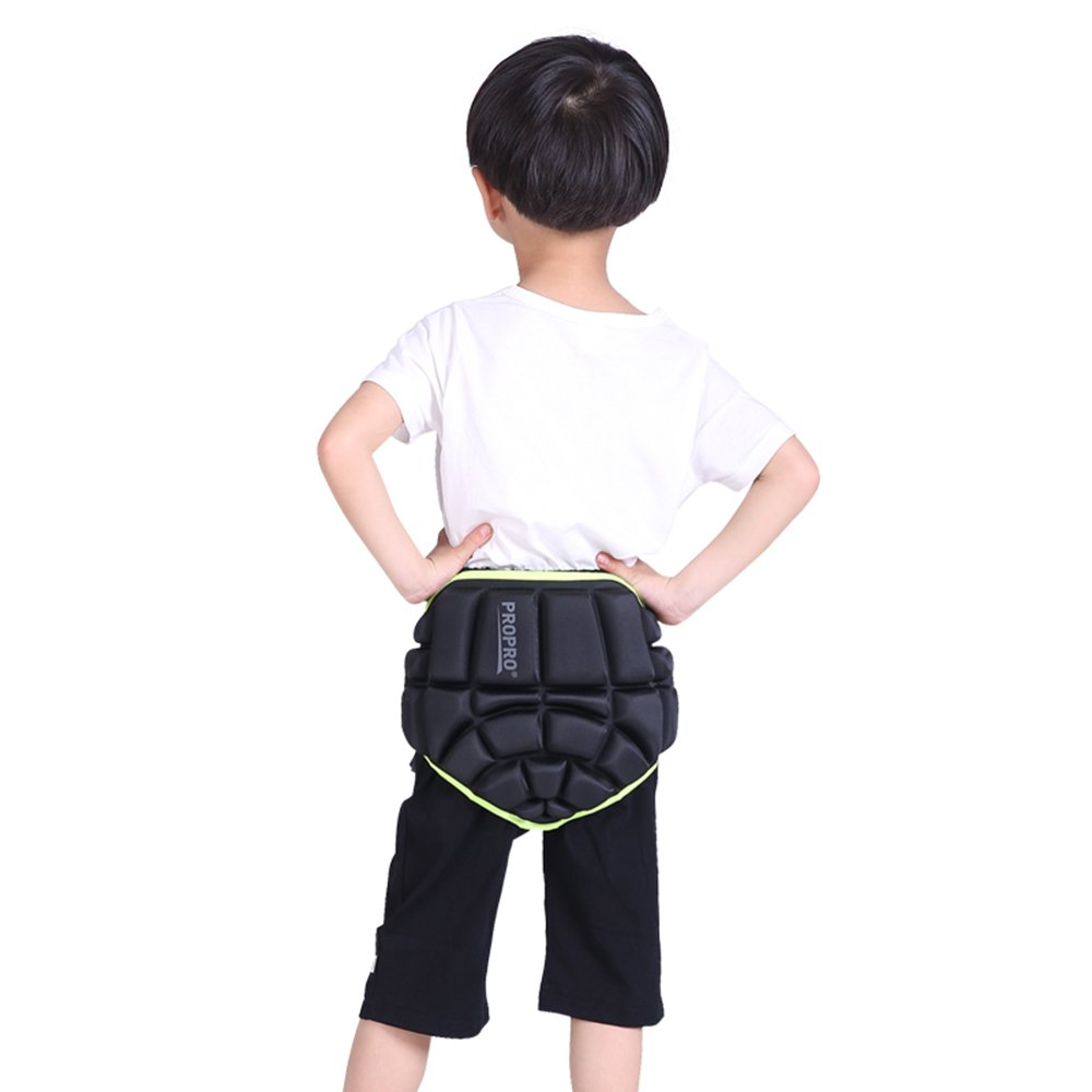 UBOWAY Kids 3D Padded Hip Protective Shorts Butt Paded Short Pants for Skiing, Skating, Skateboarding
