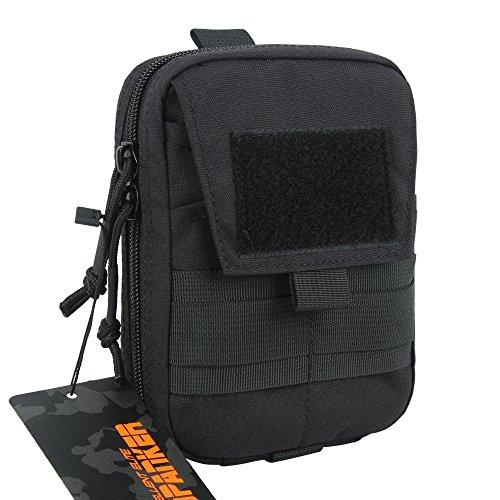 EXCELLENT ELITE SPANKER Molle Admin Pouch Military Utility Tool Pouch EDC Molle Pouchs Gadget Waist Bags(Black)