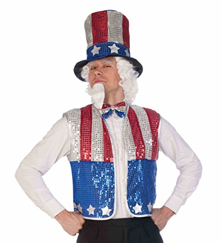 Sequin Uncle Sam Costumes (Adult Sequin Uncle Sam Kit - Celebrate in Style - Patriotic July 4th)