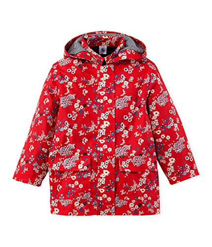 Petit Bateau Girl Japanese Floral Rain Coat in Red, 12Y (59 inches) by Petit Bateau