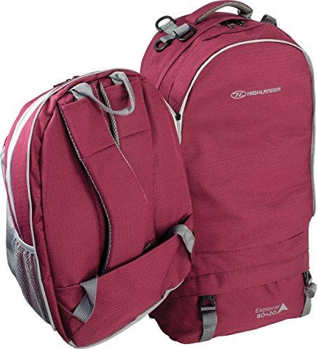 Explorer Himbeere Highlander Outdoor Purple Handbags Waterproof Rucksack Unisex 05waq5OP