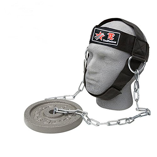 Head Harness Neck - Pro Adjustable Head Harness Dipping Neck Builder Belt Weight Lifting Chain
