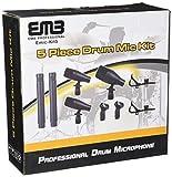 EMB EMIC-KIT5 Professional Drum Set Series 7 Piece Mic Kit For Studio Recording, Stage Performance Microphones