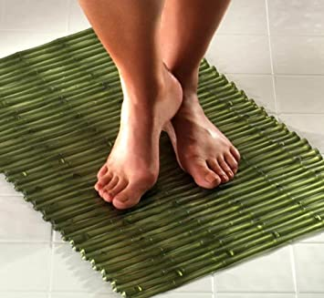 Bamboo Bath Mat   Green
