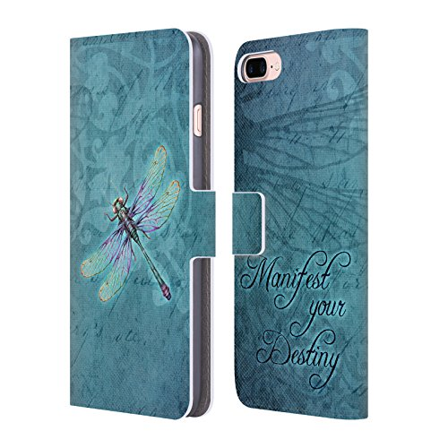 Official Brigid Ashwood Dragonfly Inspirational Leather Book Wallet Case Cover For Apple iPhone 7 Plus / 8 Plus (Design Dragonfly)