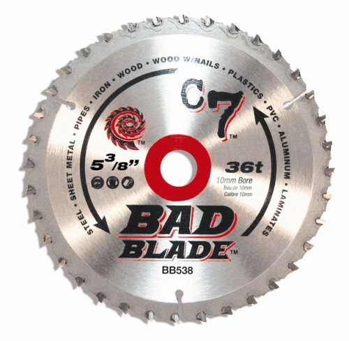 KwikTool USA BB538 C7 Bad Blade 5-3/8-Inch 36 Tooth With 10mm Arbor by Kwik Tool