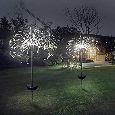 WYYZSS Luces Solares Jardín 150 LED,IP65 Lámpara De Camino De Paisaje Acero Inoxidable Blanco Impermeables para Patio,Césped,Pasillo, Fácil (2 Pack),B: Amazon.es: Deportes y aire libre