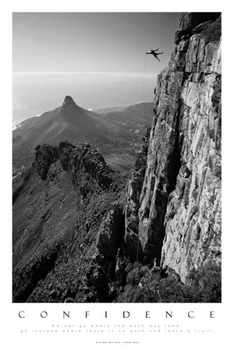 Amazon Com Confidence Rock Climbing Motivational Scenic