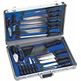 Slitzer Germany 22pc Professional Chef's Cutlery Set in Case