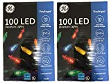 GE Mini Led Light Set 100 Lights Multi-Colored Bulbs Led (Two Packs of 100 Lights, Total of 200 Lights)