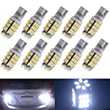 Ecosin Fashion 10xT10/921/194 Warm White RV Trailer 42-SMD 12V Backup Reverse LED Lights Bulbs