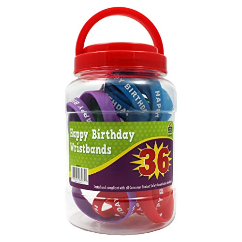 Teacher Created Resources TCR6577 Happy Birthday Wristband (Pack of 36)