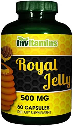 Royal Jelly 500 Mg by TNVitamins 60 Capsules
