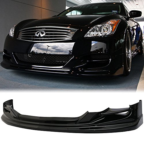 Fit 2008-2010 Infiniti G37 Coupe TS Type Front Bumper Lip Painted Black Obsidian Amazon$ - 09 G37x Front Bumper
