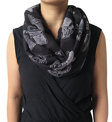 Lina-Lily-Vintage-Camera-Print-Loop-Infinity-Scarf-for-Women-Lightweight