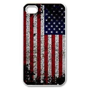 lintao diy Hard Shell Iphone 4/4s hard Case Of American Retro Flag ,Customized Bumper Plastic case