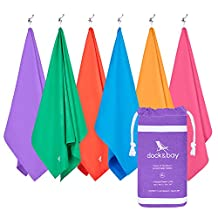 Microfiber Towel & Pouch - Quick Dry Towel, Lightweight & Compact (Extra Large XL 200x90cm, Large 160x80cm, Small 100x50cm) for travel, gym, yoga, sports, swim, camping, pool, swim, beach