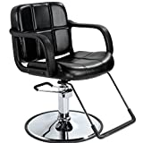 Black Hydraulic Barber Chair Styling Salon Beauty Equipment 5W