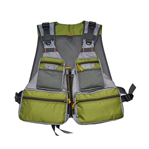 Mesh Fishing Vest (MDSTOP Fly Fishing Vest, Pockets Jacket, Outdoor Quick-Dry Net Vest, Fishing Hunting Waistcoat, Travel Photography Mesh Vest, Adjustable Size with 14 Pockets)