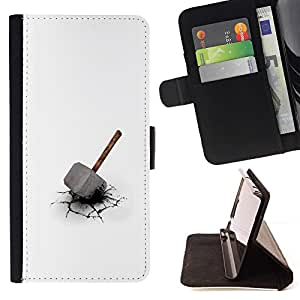 Momo Phone Case / Flip Funda de Cuero Case Cover - Martillo de Thor;;;;;;;; - HTC One M9
