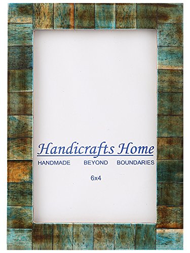 Handicrafts Home 4x6 Verdigris Bone Picture Frames Chic Photo Frame Handmade Vintage ()
