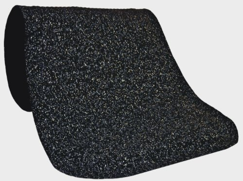 M+A Matting 443 Grey Nitrile Rubber Hog Heaven Confetti Anti-Fatigue Mat with Black Border, 3' Length x 2' Width x 5/8